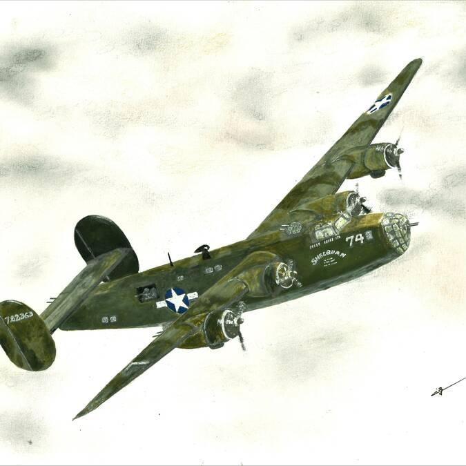 Le B24 LIBERATOR ( bombardier de Robert Houston SWEATT et de K W SUTOR exfiltrés par Bonaparte)