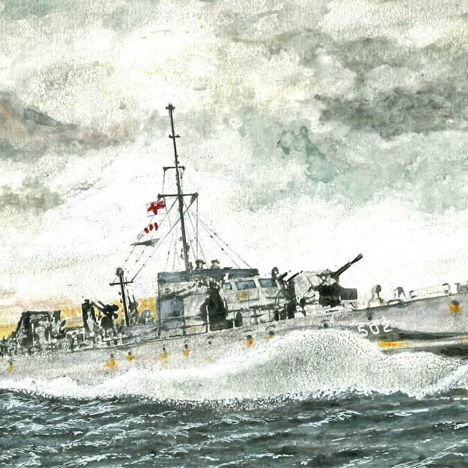 La MGB 502 qui effectua quelques exfiltrations (Cdr Peter WILLIAMS)